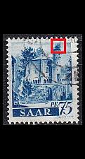 Buy GERMANY Saar [1947] MiNr 0222 PF I ( O/used ) Plattenfehler