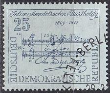 Buy GERMANY DDR [1959] MiNr 0677 ( O/used ) Musik