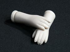 "Buy Vintage Bisque Porcelain Doll Arms Hands 2 1/8"" Flange Style"