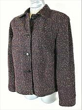 Buy SAG HARBOR womens Sz 12 L/S purple button up FULLY LINED jacket (W)P