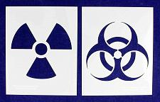 "Buy Radiation/Bio Hazard -2 Piece Stencil Set 14 Mil 8"" X 10"" Painting /Crafts/ Temp"