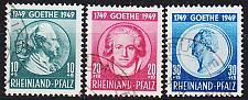 Buy GERMANY Alliiert Franz. Zone [RheinlPfalz] MiNr 0046-48 ( O/used ) geprüft