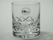 Buy Signed ORourke CUT GLASS single on rocks single diamond pattern