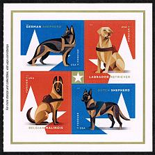 Buy US #5408a Working Dogs Pane of 4; MNH (4.40) (5Stars) |USA5408a-03