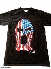 Buy Wrestling Mask Patriotic Men's T-Shirt Size Small Graphic Short Sleeve Black