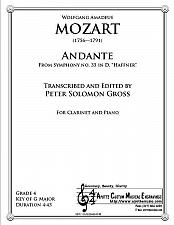 Buy Mozart - Andante from the Haffner Symphony for Clarinet and Piano