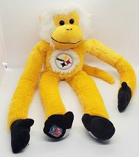 """Buy Pittsburgh STEELERS Yellow MONKEY 18"""" Hanging Plush Forever FOCO Football COOL"""