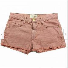 Buy Current Elliott The Boyfriend Short Rosewood Booty Shorts Size 24 Red Pinstripe