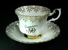 Buy Royal Albert Tea Cup and Saucer Set 50th Anniversary Gold Gilt