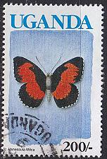 Buy UGANDA [1990] MiNr 0842 I ( O/used ) Schmetterling
