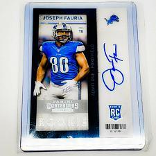 Buy NFL JOSEPH FAURIA DETROIT LIONS AUTOGRAPHED 2013 PANINI ROOKIE TICKET MINT
