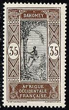 Buy Dahomey #60 Man Climbing Oil Palm; Unused (4Stars) |DAH0060-01XVA