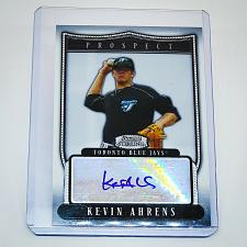 Buy MLB KEVIN AHRENS TORONTO BLUE JAYS AUTOGRAPHED 2007 BOWMAN STERLING PROSPECT RC