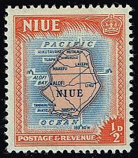 Buy Niue #94 Map of Niue; Unused (0.25) (2Stars) |NIU0094-04XRS