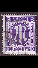 Buy GERMANY Alliiert AmBri [1945] MiNr 0010 G ( O/used )