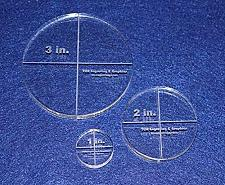 """Buy Circle Template 3 Piece Set.1"""",2"""",3"""" - Clear 3/8"""" Thick"""