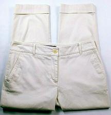 Buy Talbots Women's Heritage Petites Capri Dress Pants Size 6P Solid White Stretch