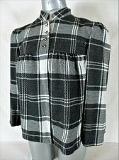 Buy MIXIT womens Medium L/S black gray white PLAID fully lined button jacket (B4)