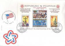 Buy PHILIPPINEN PHILIPPINES [1976] MiNr 1172-75 Block 9 ( FDC ) 2000 Jahre USA