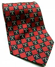 Buy Holiday Traditions Green Red Candy Cane Squares Christmas Novelty Silk Tie