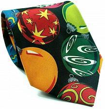 Buy Christmas Ornament Glass Balls Stars Geometric Novelty Necktie