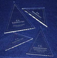 "Buy 4 Pc Kaleidoscope Set 6"" & 8"" ~1/4"" for 6"" & 8"" Finished Squares W/seam Allowanc"