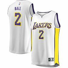 Buy Los Angeles Lakers Lonzo Ball Fanatics Branded White Fast Break Replica Jersey