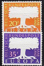 Buy GERMANY Saar [1957] MiNr 0402-03 ( **/mnh ) CEPT