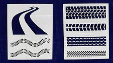 """Buy Tire Tread Stencils-8"""" X 10"""" -2 Pieces of 14 Mil Mylar - Painting /Crafts/ Templ"""