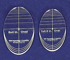 "Buy Oval Quilt Templates 2 Piece Set. 7""- 8"" - Multi Purpose 1/4"""