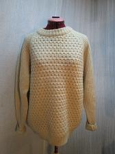 """Buy Vintage Hand Knit WOOL Fishermans Sweater Size L 40-42"""" Chest Unisex"""