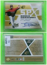 Buy MLB TROY PATTON ASTROS AUTOGRAPHED MM 8 UPPER DECK SPX ROOKIE MINT