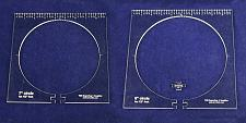 """Buy 2 Piece Inside Circle Set B--7"""" & 8"""" W/rulers ~1/4"""" Thick - Long Arm- For 1/2"""" F"""