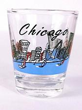 "Buy Chicago Skyscrapers Lake Sailboats 2.25"" Collectible Shot Glass"