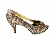 Buy Bandolino BDMylah Gold Glitter Peep Toe Pumps Heels Shoes Women's 9 M (SW11)