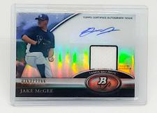 Buy MLB JAKE MCGEE RAYS AUTOGRAPHED 2011 TOPPS PLATINUM GAME-WORN JERSEY/1166 MNT