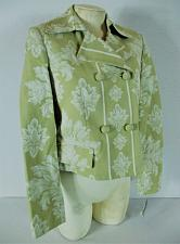 Buy APOSTROPHE womens Sz 6 L/S green FLORAL double breasted LINED jacket NWT (B)P