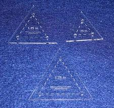 Buy Quilt Templates- 3 Piece Set Half Sizes .75, 1.25, 1.75- Equilateral Triangles A