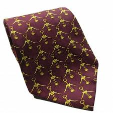 Buy Wine Bottle Cork Opener Red Gold All Over Print Novelty Silk Necktie
