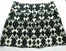 Buy Loft Womens A Line Pleated Skirt Size 14 Black White Geometric Back Zip