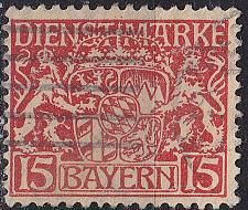 Buy GERMANY Bayern Bavaria [Dienst] MiNr 0019 v ( O/used )