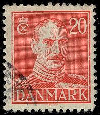 Buy Denmark #282 King Christian X; Used (3Stars) |DEN0282-05XRS
