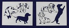 "Buy Dachshund Dog Stencils-Mylar 2 Pieces of 14 Mil 8"" X 10"" - Painting/Crafts/Templ"
