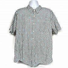 Buy 1888 Saddlebred Mens Button Up Shirt XXL Pineapple Print Tailored Fit