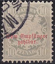 Buy GERMANY Bayern Bavaria [Porto] MiNr 0006 ( O/used ) [02]