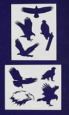 Buy American Bald Eagle Stencils -2 pc set-Mylar 14mil - Painting /Crafts/ Templates