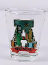 """Buy New York Statue Of Liberty Skyscrapers 2.25"""" Collectible Shot Glass"""