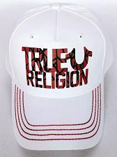 Buy True Religion Men's Red White Horse Shoe Baseball Strapback Hat Cap