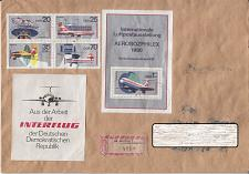 Buy GERMANY DDR [1980] MiNr 2516-19 4er Block 59 ( Brief ) Flugzeuge [A17]