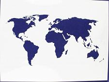 "Buy Map of the World Stencil 14 Mil 18"" X 24"" Painting /Crafts/ Templates"